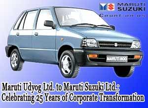 Maruti Udyog Ltd. to Maruti Suzuki Ltd.: Celebrating 25 Years of Corporate Transformation