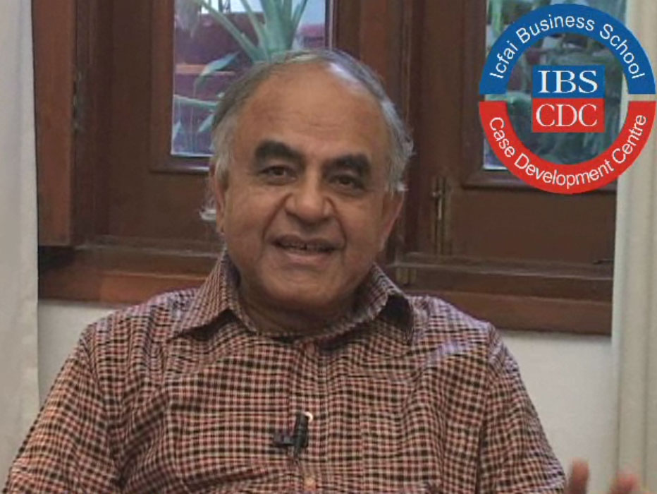 An video interview with Gurcharan-Das on India @ 75, Business Education in India, Corporate Governance & CSR.
